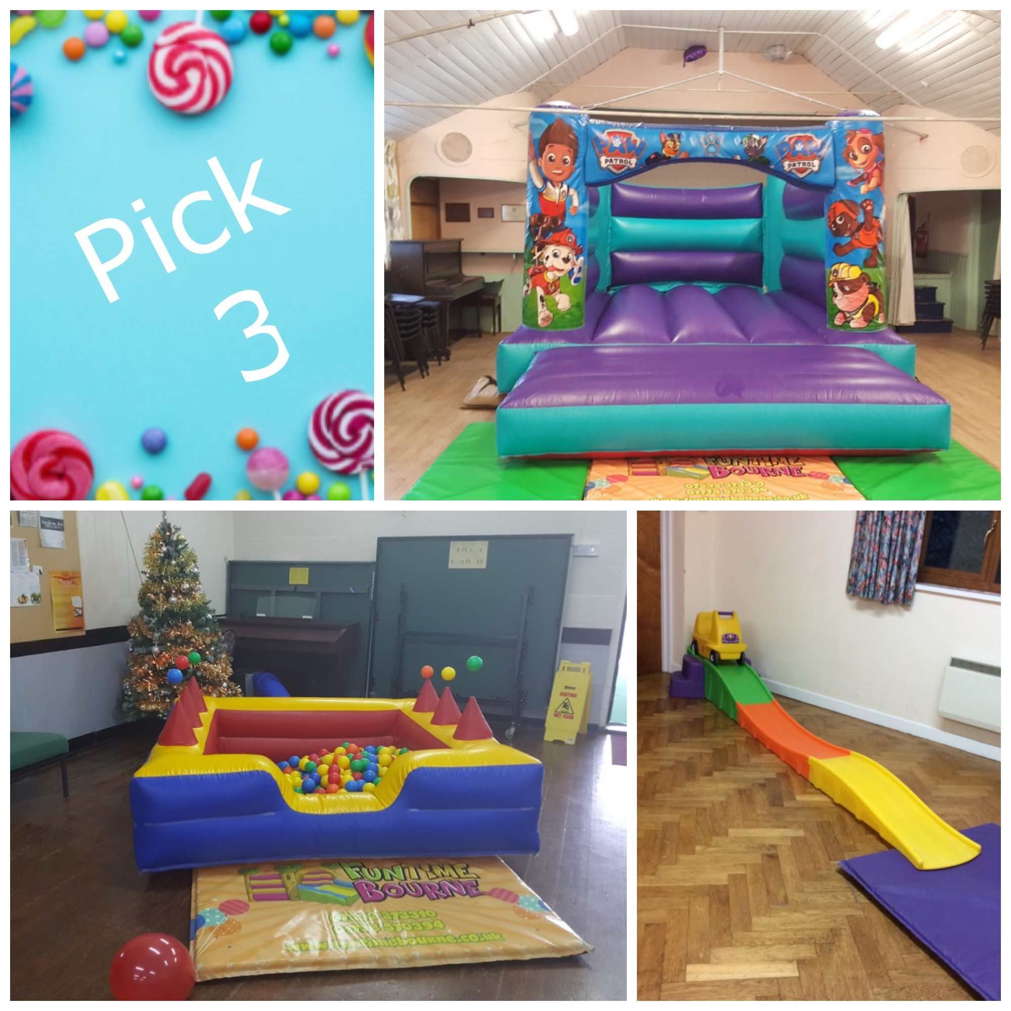 Small bouncy castle party package in Bourne