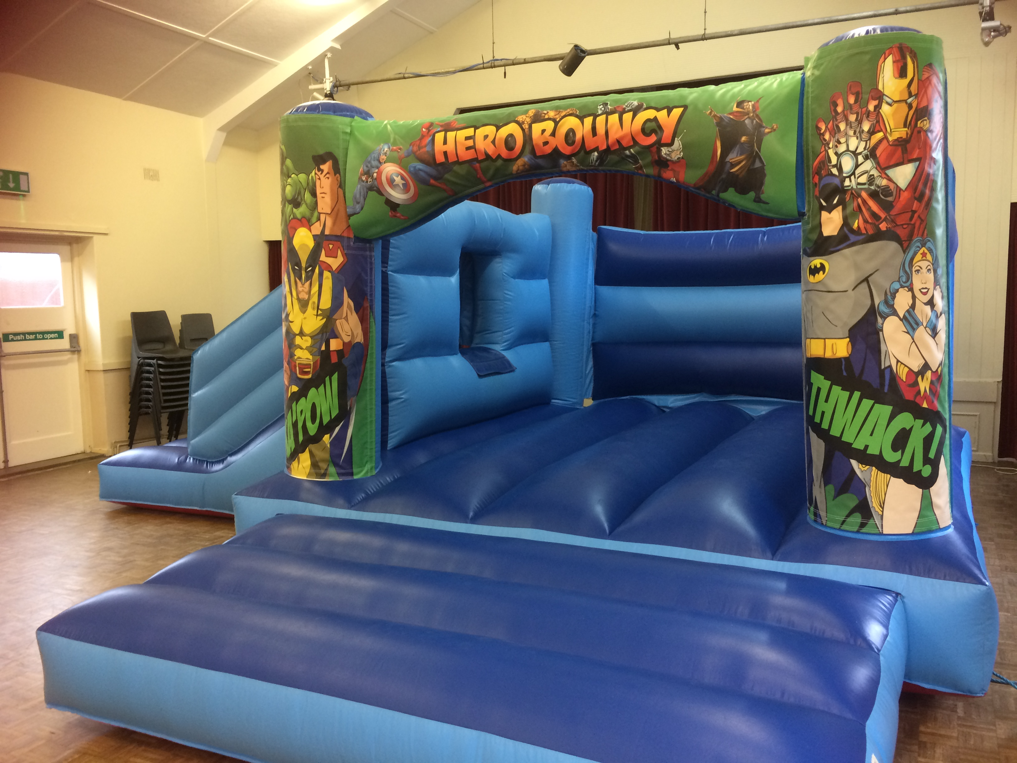 Blue Marvel Combo Bounce and Slide Bouncy Castle
