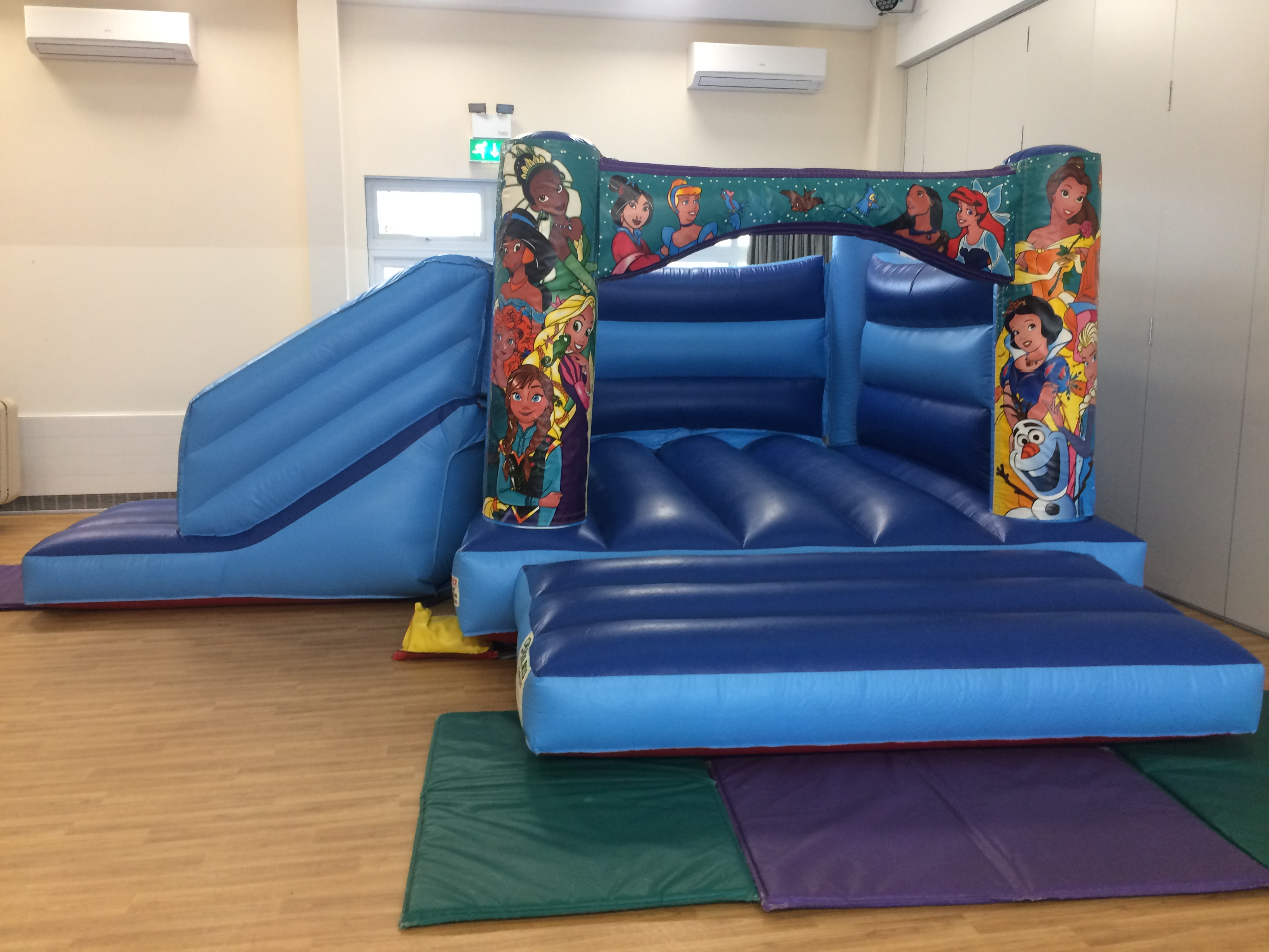 Blue Princess Combo Bounce and Slide Bouncy Castle