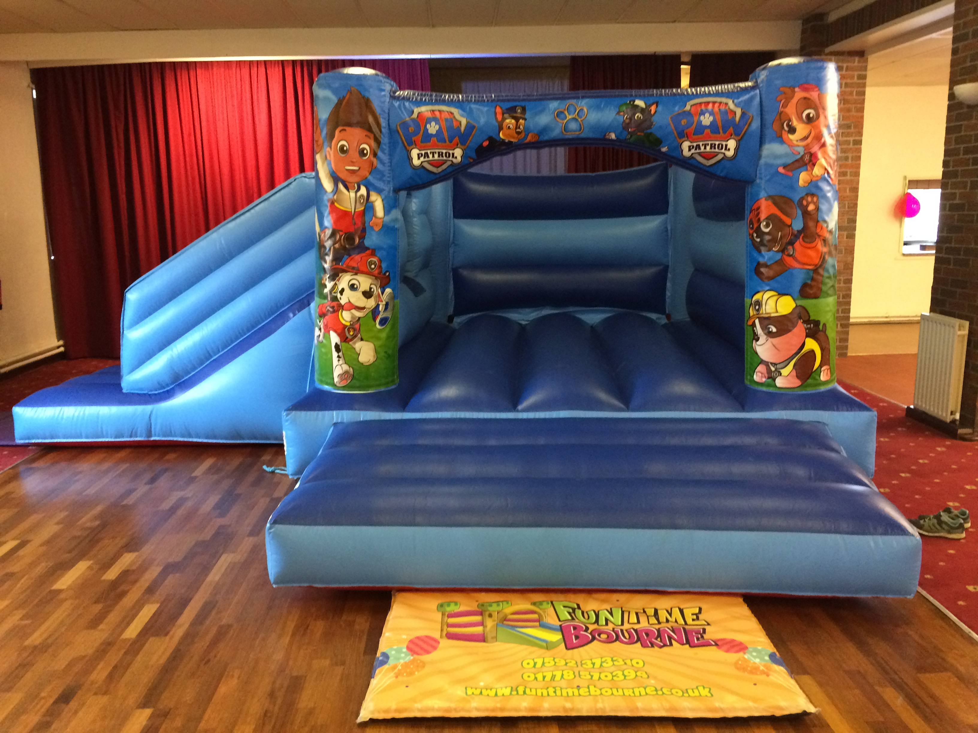 Blue Pups Combo Bounce and Slide Bouncy Castle