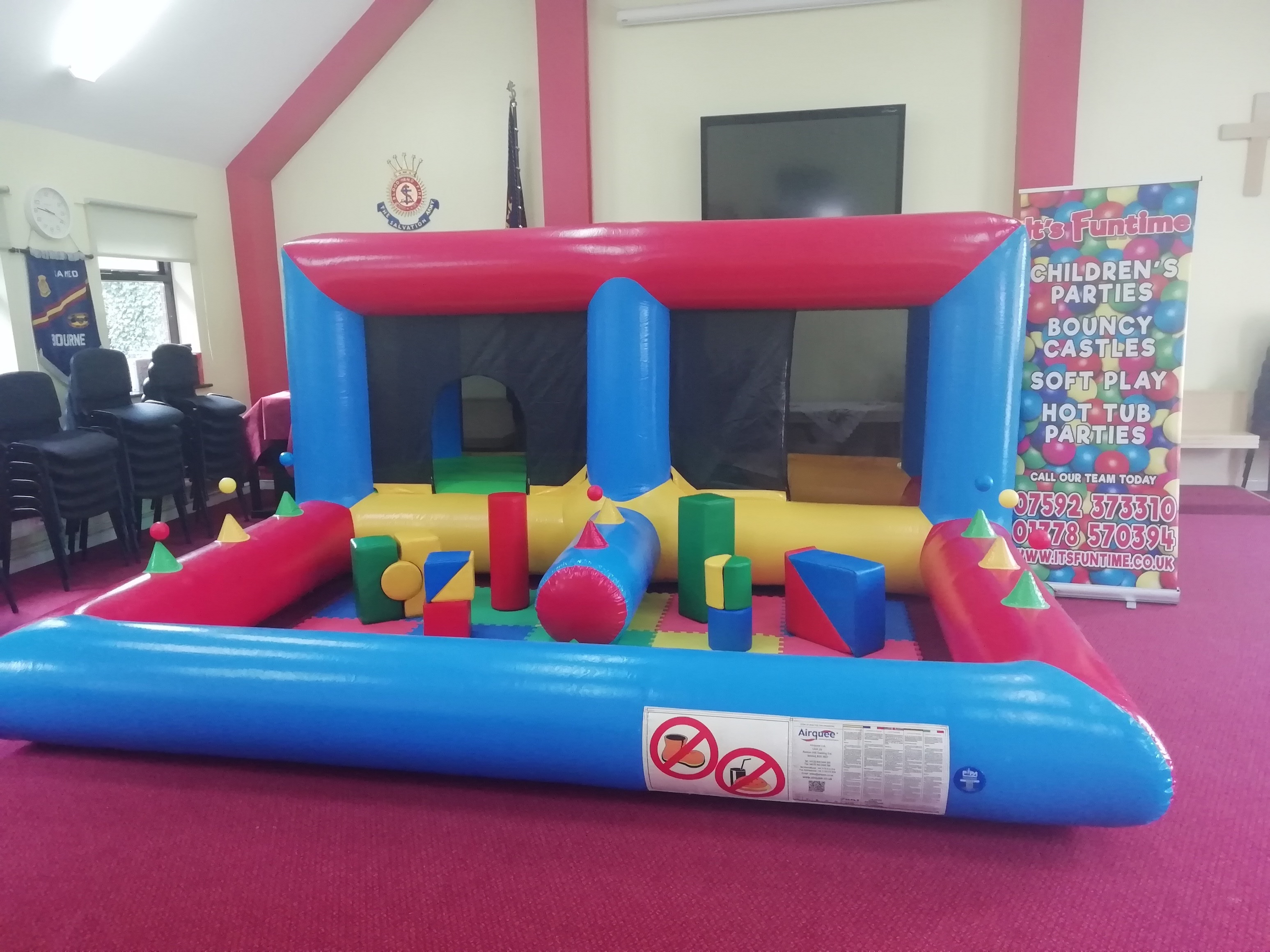 Bouncy Castle Hire in Bourne Salvation Army Hall