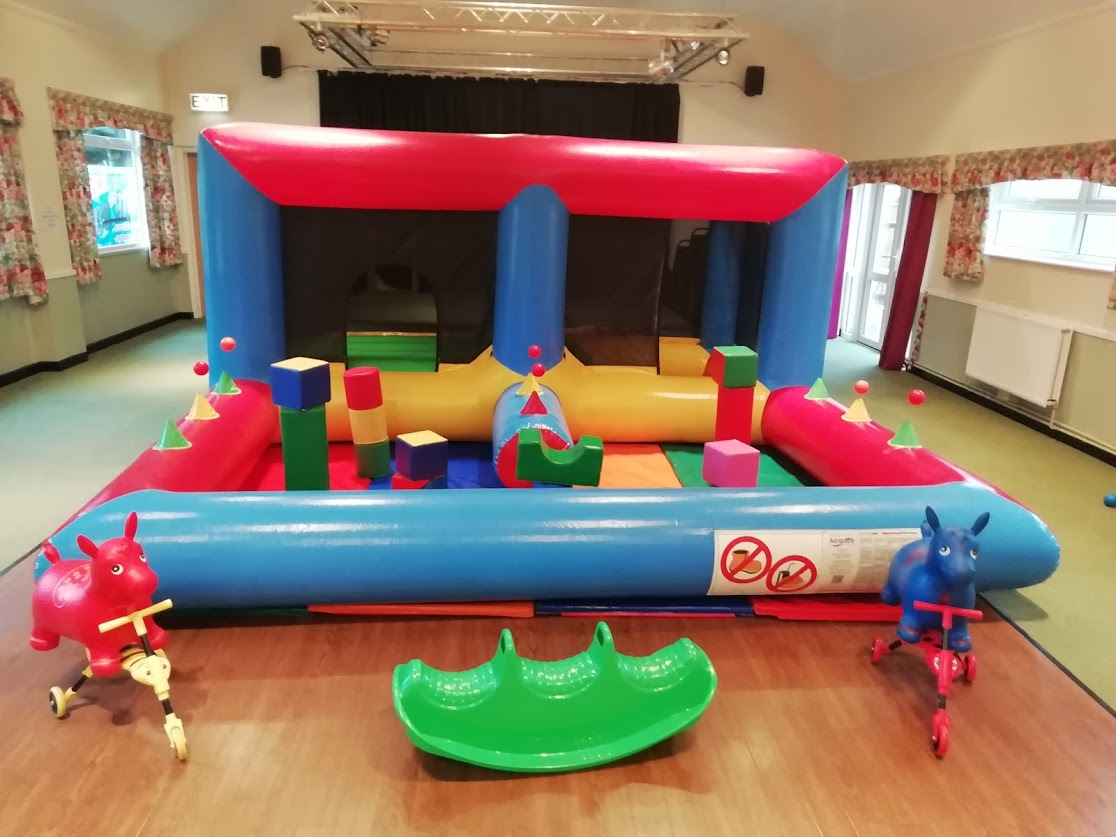 Bounce castle in Bourne Darby and Joan Hall
