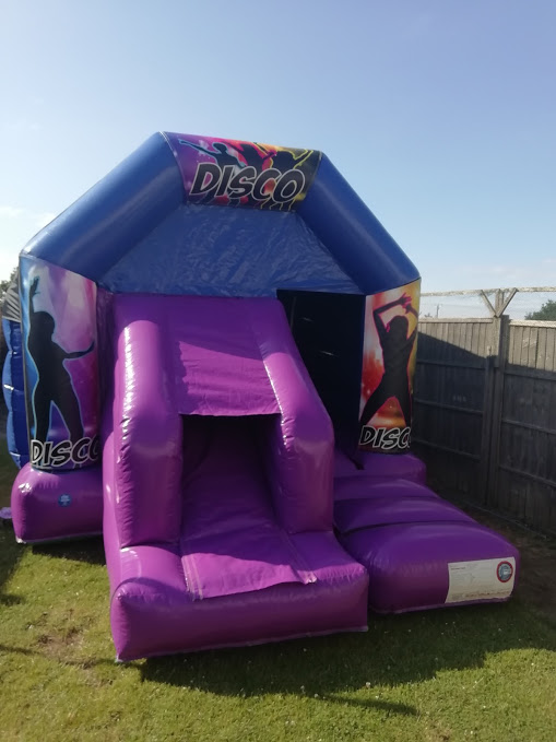 Disco Bounce And Slide Bouncy Castle Hire In Bourne