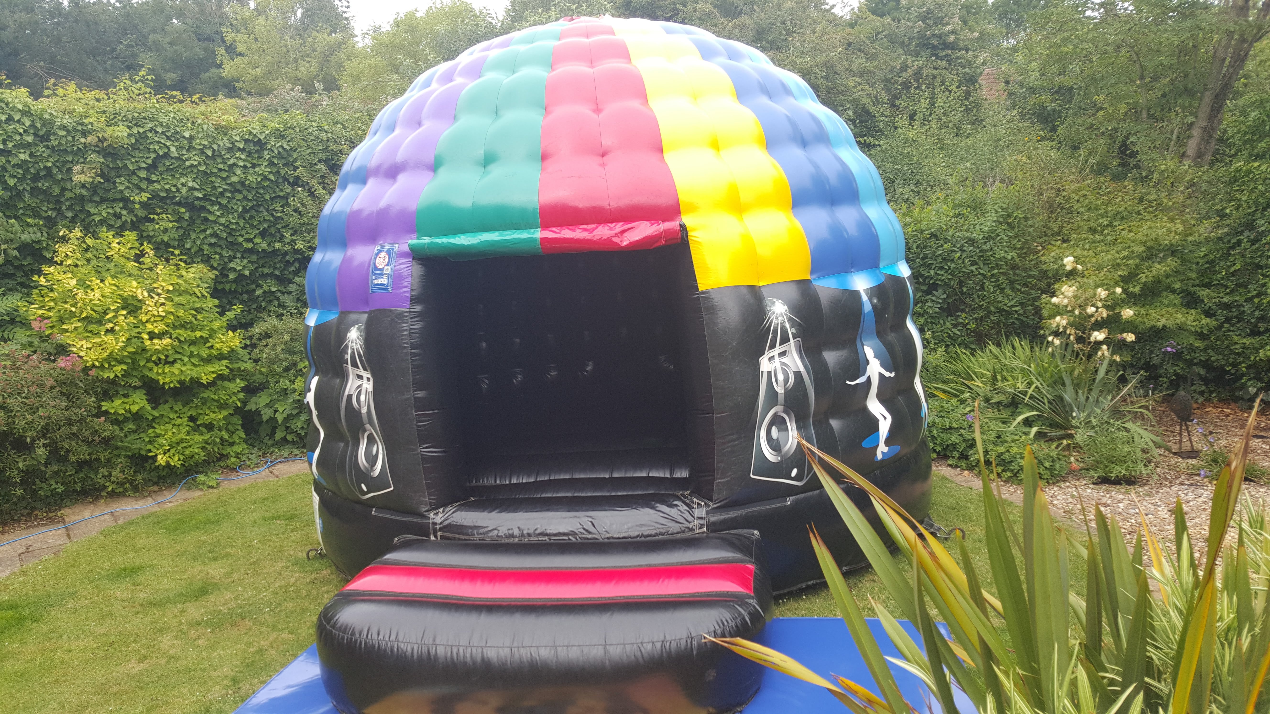 Disco Dome Bouncy Castle In Dyson Close, Peterborough