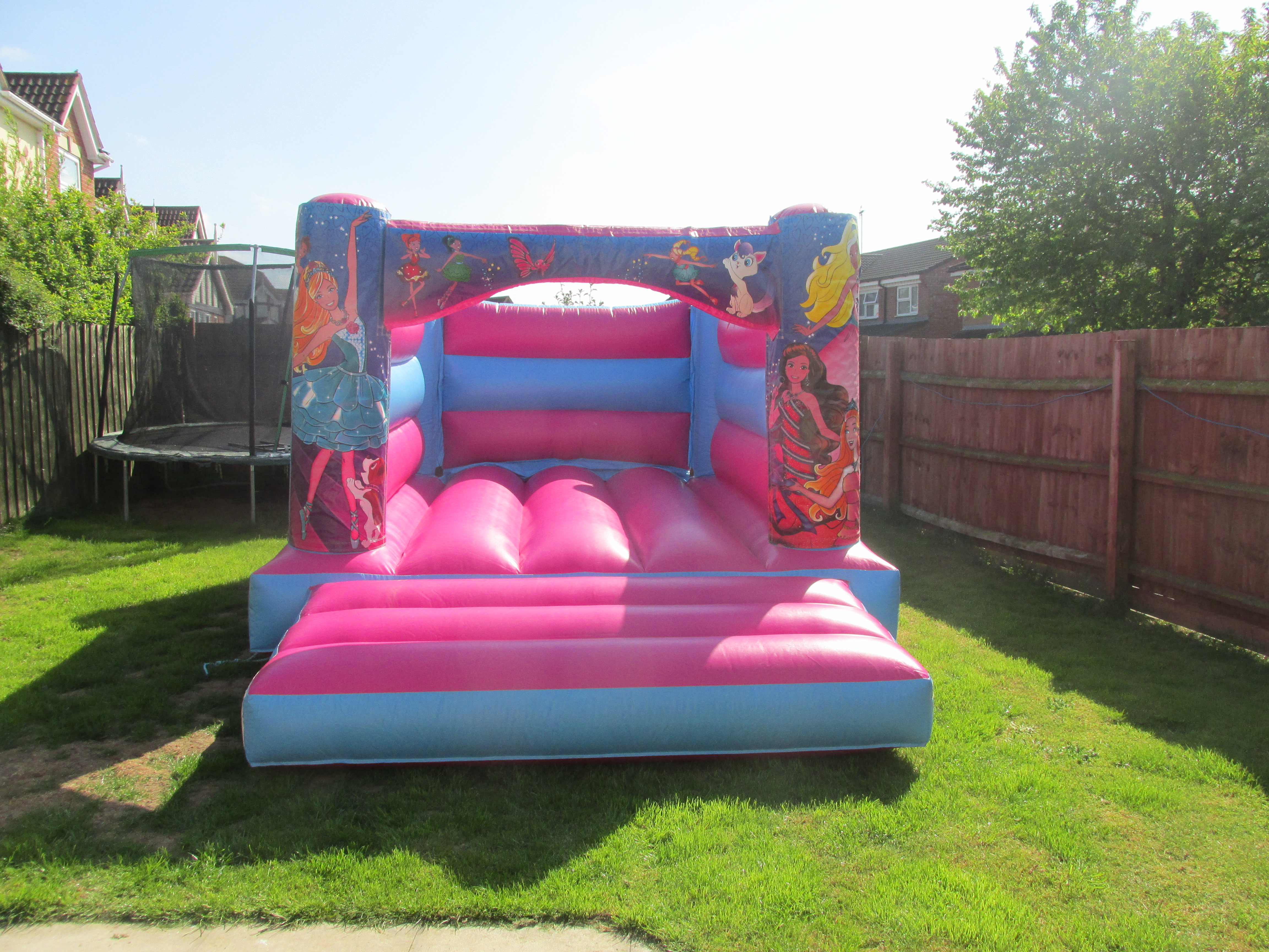 Pretty Pink Barbie Themed Bouncy Castle Hire In Peterborough, Bourne and Spalding