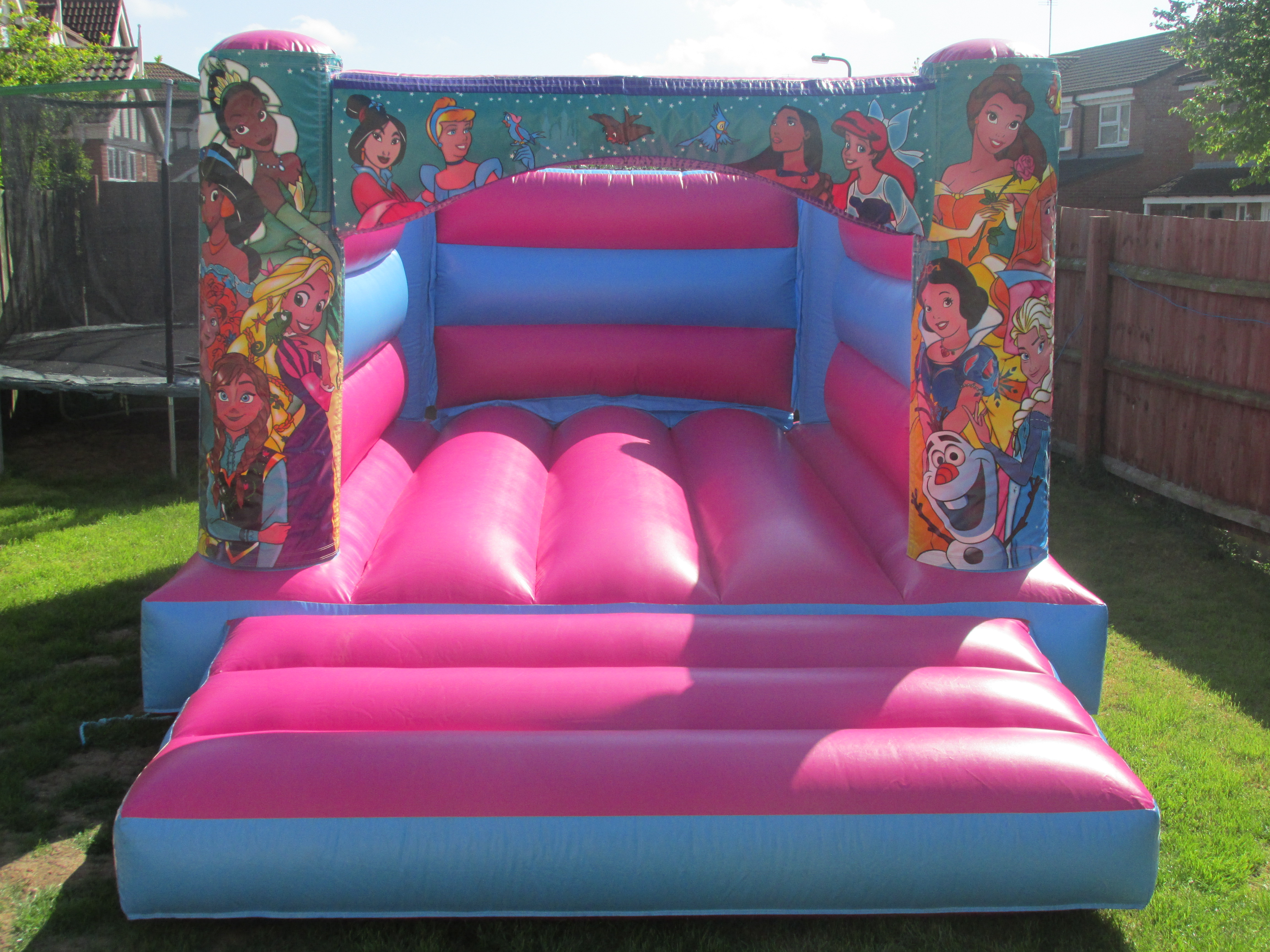 Pretty Pink Princess Bouncy Castle Hire In Bourne, Peterborough and Spalding