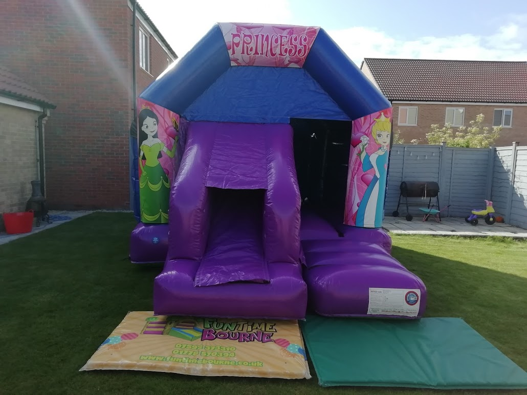 Bouncy Castle With Shower Cover, ideal For Rainy Days