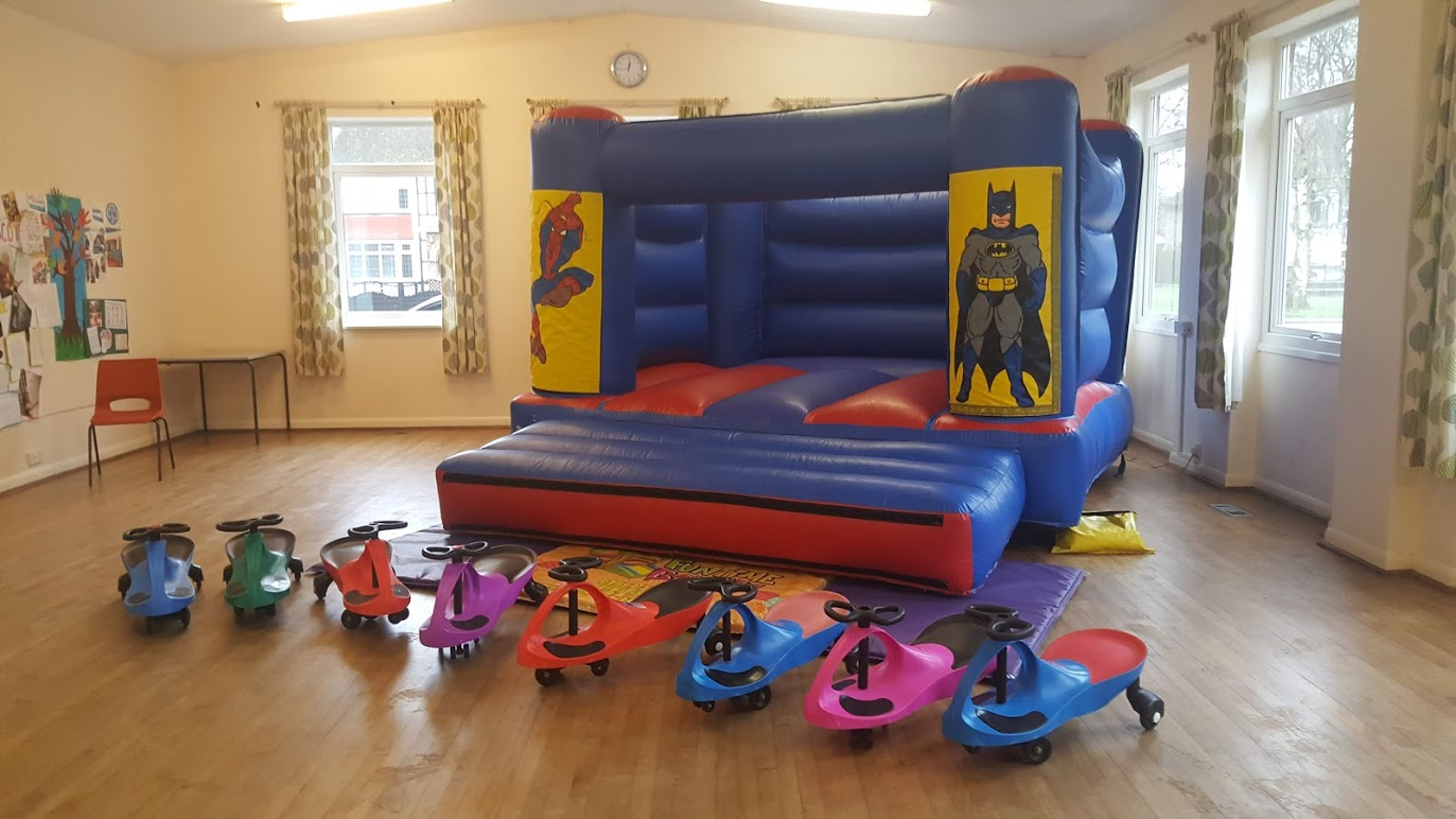 Toddler bouncy castle in Pinchbeck Church Hall near Spalding
