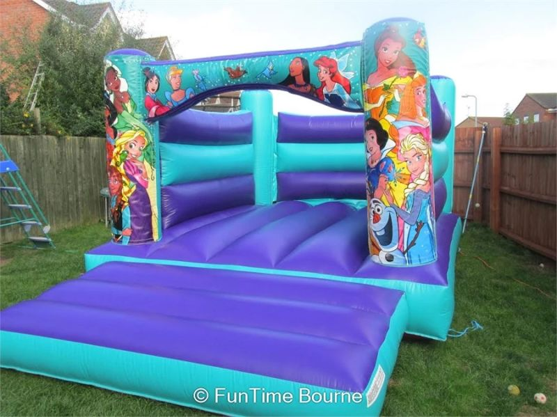 Beautiful Blue Princess Bouncy Castle