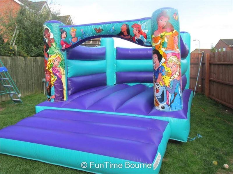 Beautiful Blue Princess Bouncy Castle