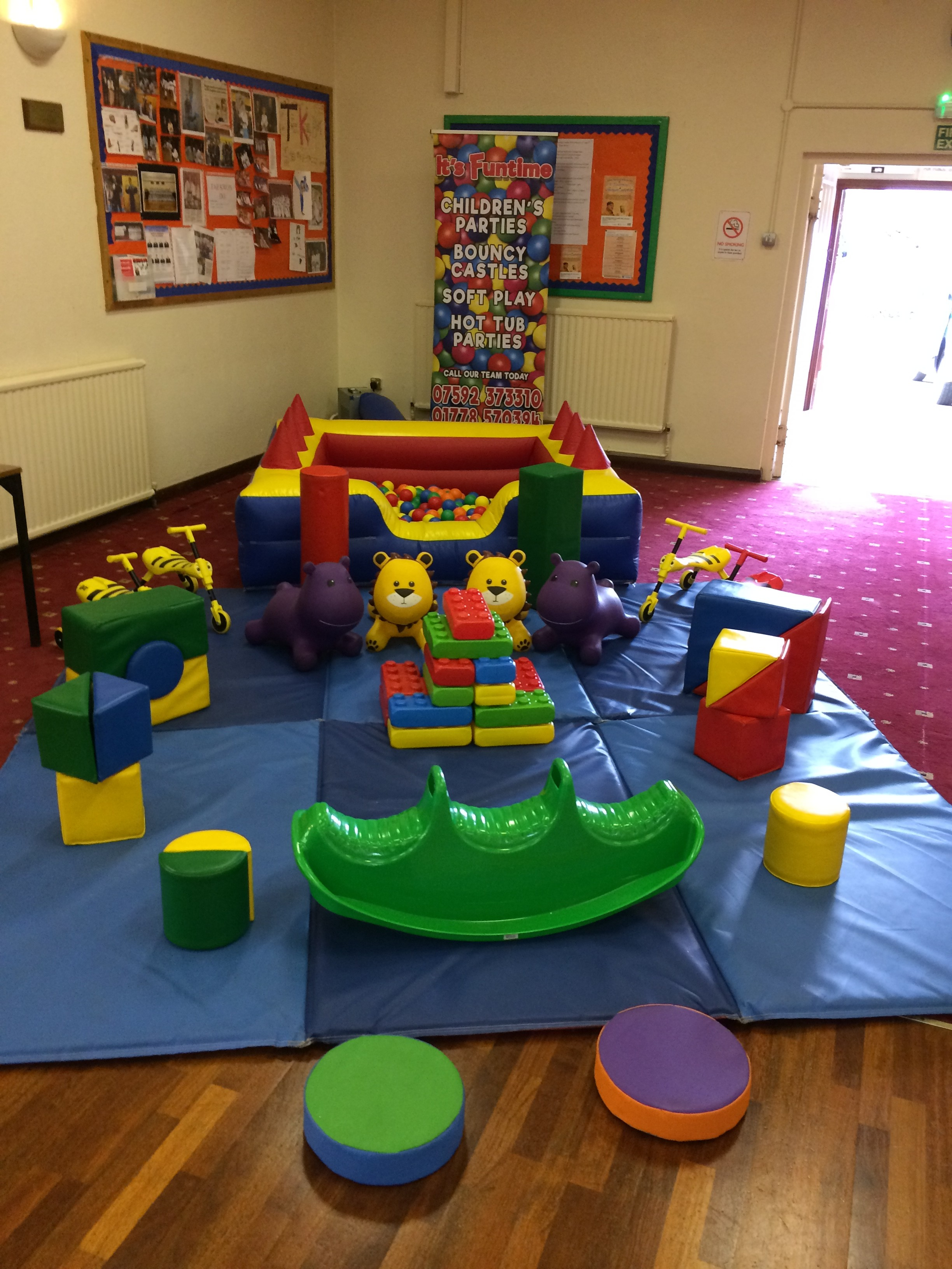 Soft play Equipment in Billingborough Village Hall