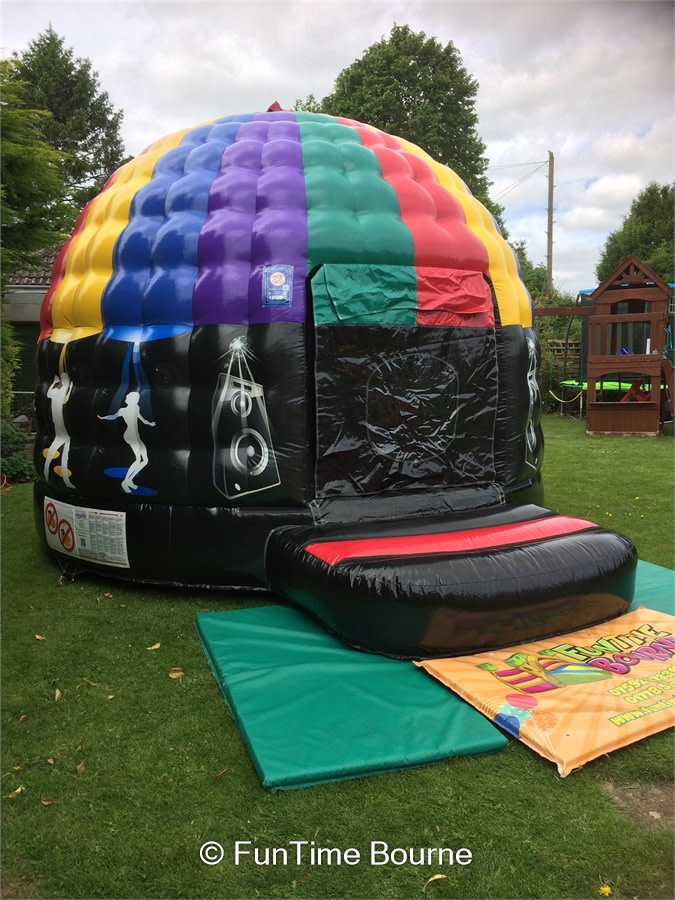 Hire a disco dome bouncy castle in Bourne