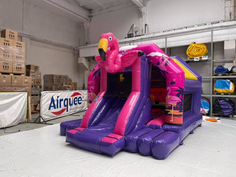 Pink Flamingo Bouncy Castle In Hampton Peterborough