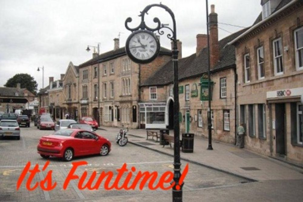 Picture of Market seeping town centre.  Hot tub hire is available in market Deeping