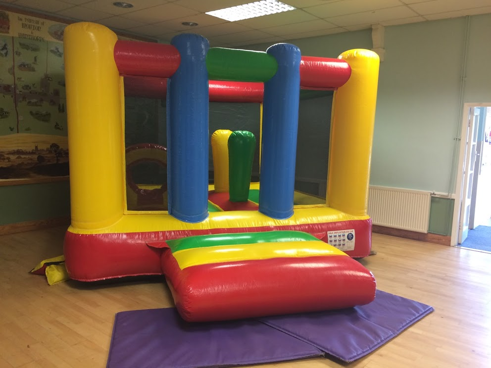 Brightly Coloured Toddler Activity Bouncy CastleHire In Peterborough, Bourne, Grantham, Spalding, Sleaford, Stamford and Surrounding Areas